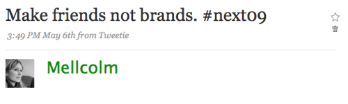 Brands vs. friends