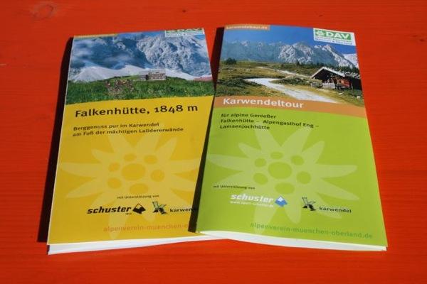 Faltblätter Karwendeltour und Falkenhütte, DAV