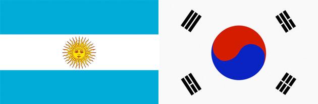 Argentinien gegen Südkorea
