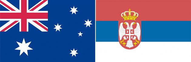 Australien gegen Serbien