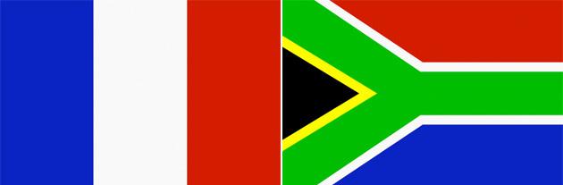 Frankreich gegen Südafrika