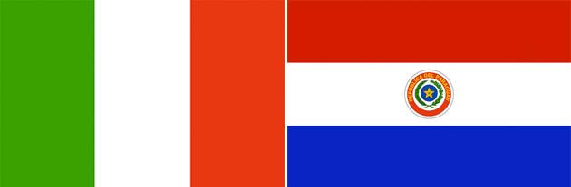 Italien gegen Paraguay