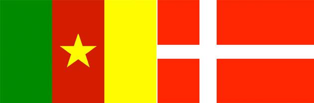 Kamerun gegen Dänemark