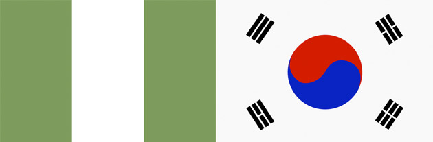 Nigeria gegen Südkorea