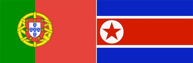 Portugal gegen Nordkorea