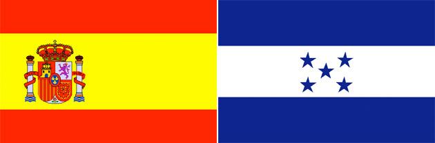 Spanien gegen Honduras