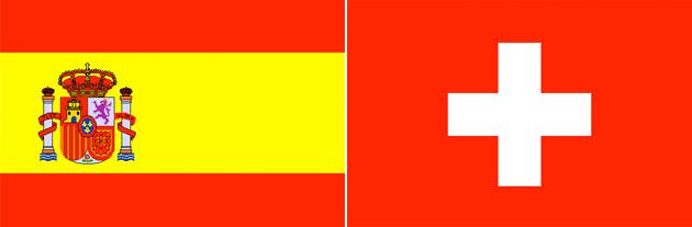 Spanien gegen Schweiz