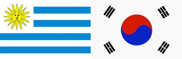 Uruguay gegen Südkorea